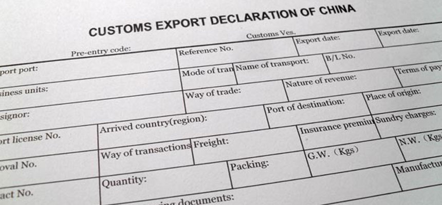 Customs Declaration Form and Shipping Documents